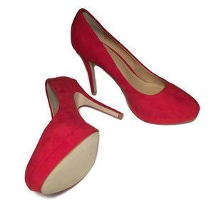 H&M Red Platform Stilettos